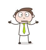 Cartoon Secretary Zipper-Mouth Face Vector - 175432476