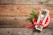 Christmas table setting. - 175440429