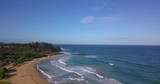 Amazing aerial view of the Hawaii nature, beac, Pacific ocean waves during sunset time. View on the beach at the Kauai island - 175440480