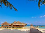 Cafe on tropical Maldives island - 175444618