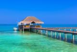 Cafe on tropical Maldives island - 175444619