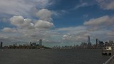 Panoramic view New York City from vessel,real time - 175446454