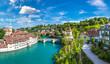 Leinwanddruck Bild - Panoramic view of Bern
