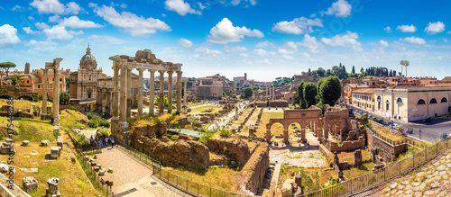 Foto op Aluminium Rome Ancient ruins of Forum in Rome