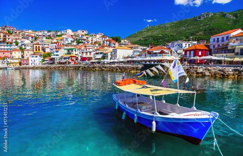 Colorful Greece - beautiful coatsal town Parga. Greek holidays