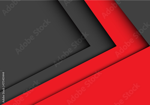 Abstract red gray arrow design modern futuristic background vector illustration.