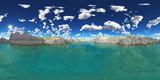 360 Grad Panorama mit einem Gebirgssee - 175452675