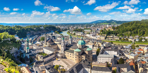 Panoramic view of Salzburg