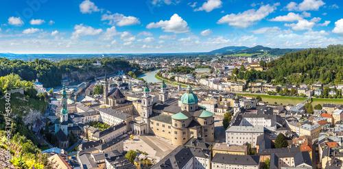 Leinwanddruck Bild Panoramic view of Salzburg