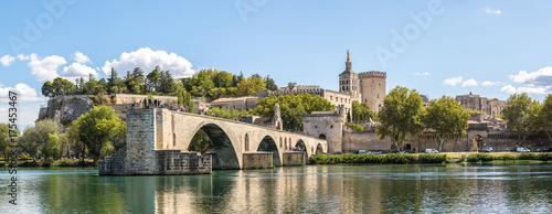 Spoed canvasdoek 2cm dik Wanddecoratie met eigen foto Saint Benezet bridge in Avignon