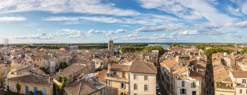Fototapeta Aerial view of Arles, France