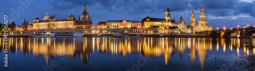 Evening panorama of Dresden, Saxony, Germany