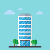 Company building in flat style - 175457216