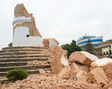 Aftermath of Nepal earthquake 2015, collapsed Dharhara tower in Kathmandu - 175463000