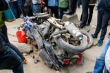 Aftermath of Nepal earthquake 2015, crushed motorbikes in Kathmandu - 175463047