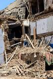 Aftermath of Nepal earthquake 2015, damaged palace on Durbar Square in Kathmandu - 175463476