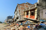 Aftermath of Nepal earthquake 2015, collapsed buildings in Kathmandu - 175463888