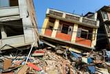 Aftermath of Nepal earthquake 2015, collapsed buildings in Kathmandu - 175465213