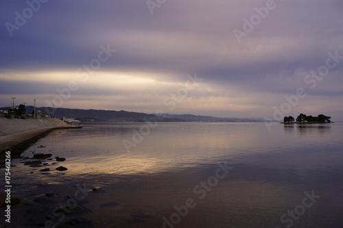 Aluminium Lavendel 夕景の嫁ヶ島