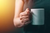 Womn drinking morning coffee - 175471413