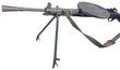 Soviet light machine gun on white