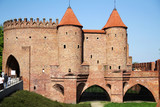 Fortress barbacan old city of Warsaw of Poland - 175473679
