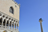 The Doge's Palace and the Lion of Saint Mark in Piazza San Marco, Venice.  - 175475437
