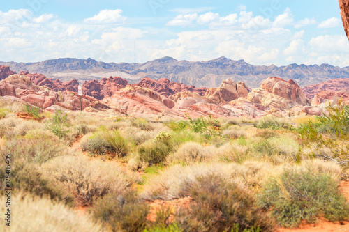 Keuken foto achterwand Beige amazing valley of fire desert landscape, nevada