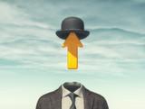 Business.man with an arrow instead - 175498000