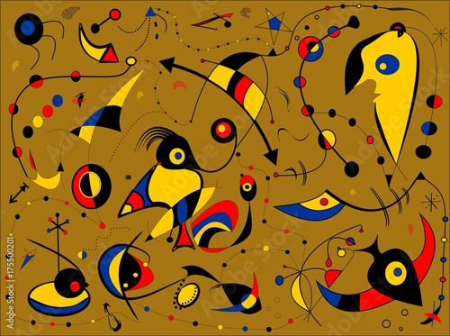 Abstract light brown background style surrealist painter