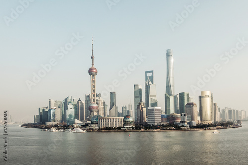 Shanghai huangpu river financial center Poster