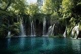waterfall in forest, Plitvice Lakes, Croatia - 175504250