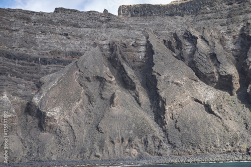 Papiers peints Iles Canaries Lanzarote, Spain - August 26, 2015 : View of lanzarote cliffs from the boat
