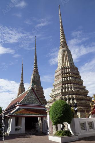 Pagodas at Wat Pho Canvas