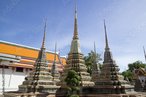 Pagodas at Wat Pho Poster