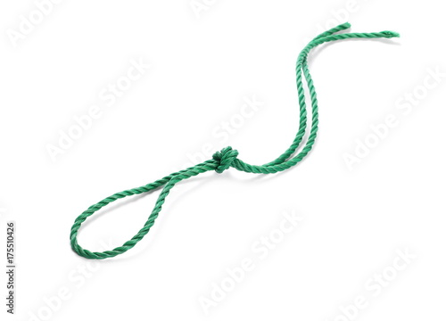 Poster Rope isolated on white background