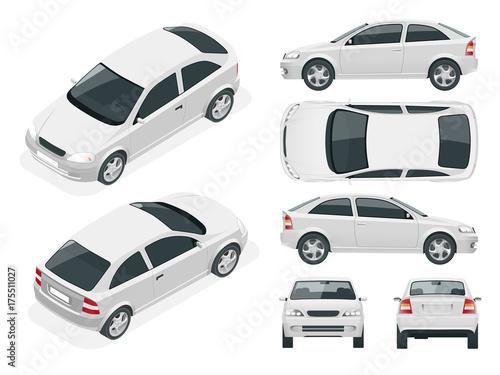 Set of Sedan Cars.