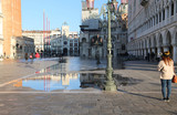 Saint Mark square with high tide in winter - 175511835