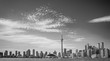 Skyline of Toront in Canada from the lake Ontario