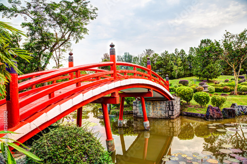 Japanese Garden Bridge in Singapore Poster