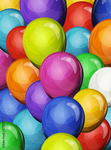 Carnival Party Balloons Background