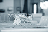 glass restaurant table wine serving - 175518260