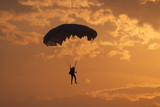 Paratrooper at sunset