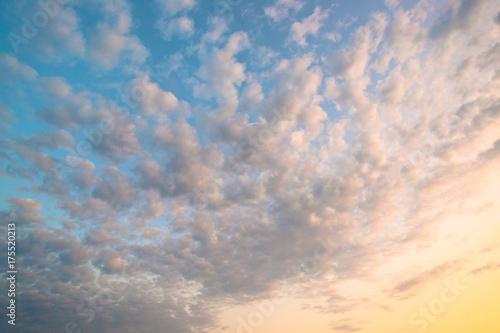 Deurstickers Ochtendgloren Sunrise Clouds