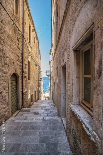 Staande foto Smal steegje Charming alley, Street in Croatia
