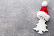 Christmas wooden decor on the snow background. - 175543405