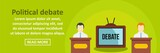 Political debate banner horizontal concept - 175546808