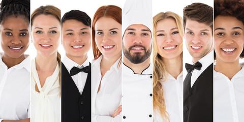 Portrait Of A Confident Smiling Waiter