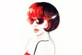 Fashion illustration. Beautiful woman  - 175556681