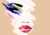 Makeup. Fashion illustration. Beautiful woman face - 175556699